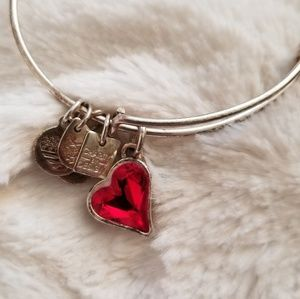 (RED) Heart of Strength Alex and Ani Bangle